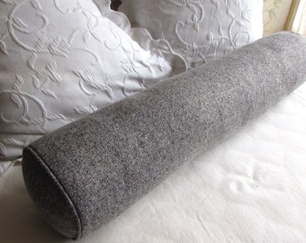 8X54 gray/white mix bolster pillow includes insert