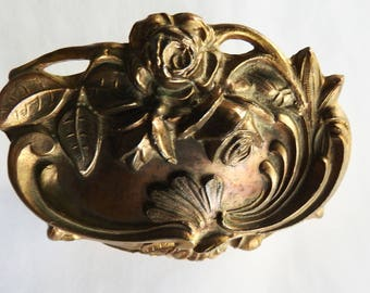Antique Art Nouveau Jewelry Casket