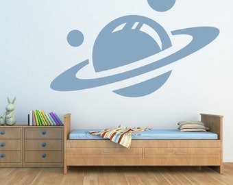 Saturn and Planets Kids Nursery----art Graphic Vinyl wall decals stickers home decor