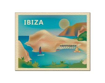SALE Ibiza, Spain Greeting Card 4.5 x 5.5 inches, Loose Petals City Art - style O-IBI
