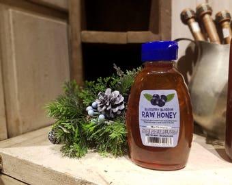 Pure Raw Summer Blueberry Blossom Honey - 16 ounces Ohio Honey