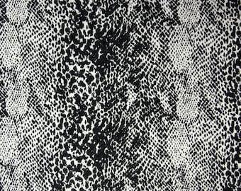 Black and white cotton Brocade Haute Couture