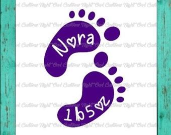 Micro Preemie / Preemie / Infant Footprints Decal