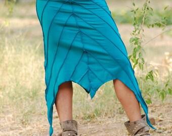 over stitch leaf skirt/overlock skirt/pixie skirt