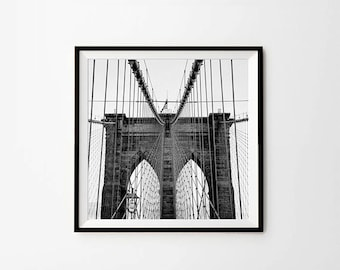 Brooklyn bridge,  8 x 8 in, 10 x 10 in, 12 x 12 in, New York, New York Photography, New York Print, Art print, Printable photography