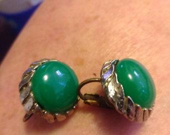 Napier green earrings
