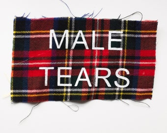 MALE TEARS Red Flannel Patch