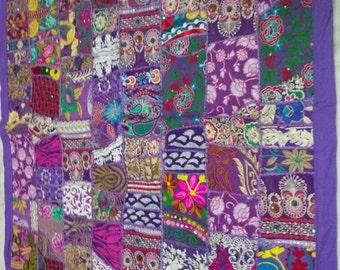 Handwork Handmade Khambhadia Patchwork Wallhanging Old Patchwork Wallhanging Wall piece Banjara Gypsy Wallhanging Vintage Wall hanging
