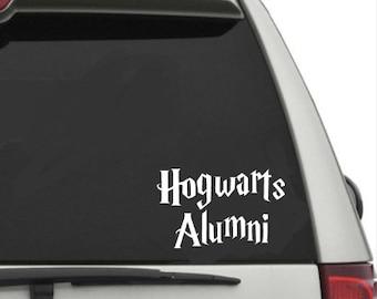 Hogwarts Alumni Harry Potter Car Decal Sticker
