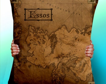 Game of Thrones Map essos Vintage - Cushion / Pillow Cover / Panel / Fabric