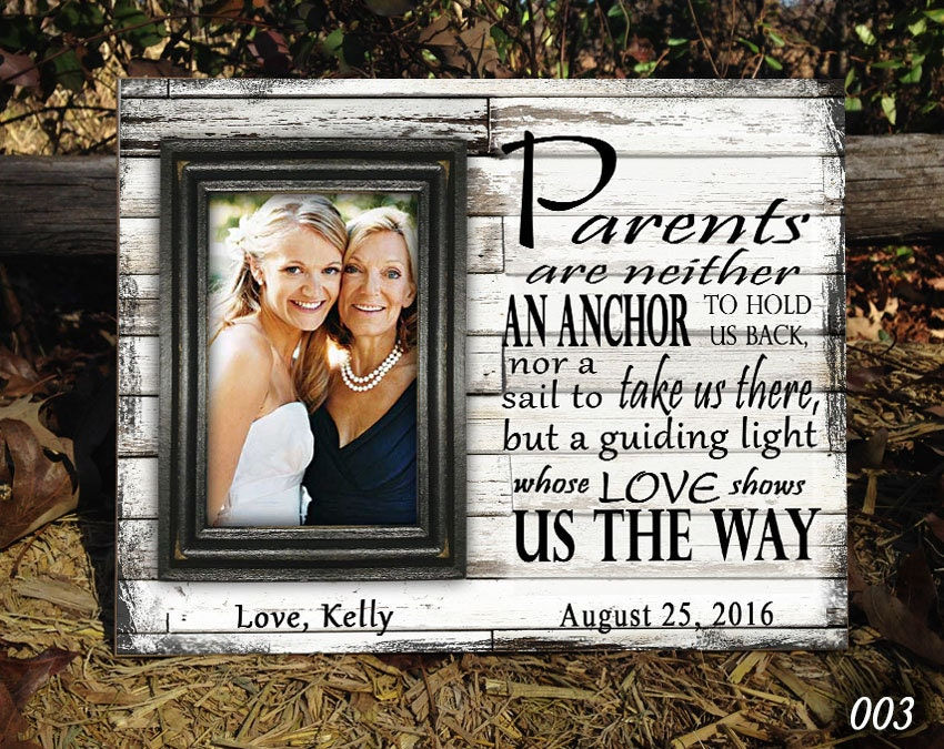 Charmant Personalized Wedding Picture Frames For Parents Galerie ...