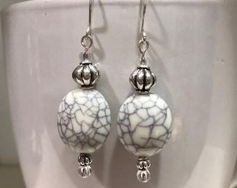 Marble look earrings