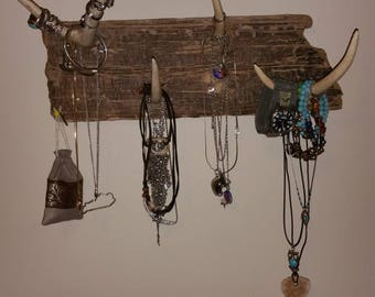 Driftwood and antler organizers.....jewelry, scarves, hats....