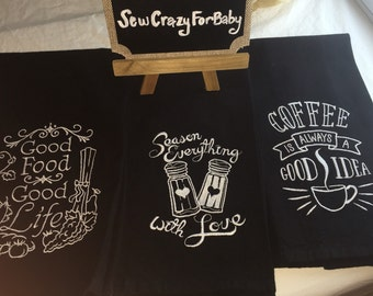 Dish Towel in chalkboard design