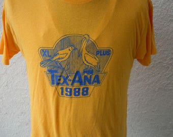 Size XL (48) ** 1988 Texas Tex-Ana Shirt (Single Sided)
