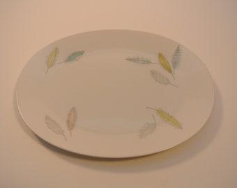 Vintage Rosenthal 1950s Porcelain 11 inch serving plate - Bunte Blatter