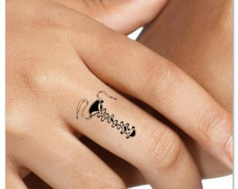 Temporary Tattoo Shoelace Finger Fake Tattoos Waterproof Thin Durable