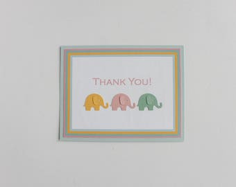 Welcome Little Peanut Thank You Cards / Elephant Baby Shower / Elephant Thank You Cards / Baby Shower Thank You Cards / Thank You Cards
