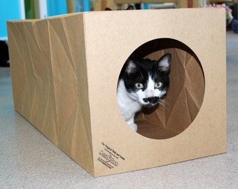 Cat Toy, Cat Bed - Unique Expandable Catnip Scented Cat Tunnel