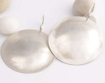 Simply The Best Handmade Silver Statement Earrings