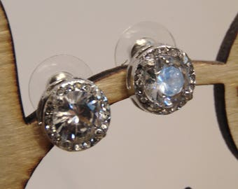 Kate Middleton Inspired Round Cubic Zirconia Earrings