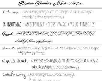 CHOICE of typography - melancholy chimera