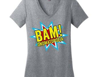 Plus Size Clothing, V Neck T Shirt, English Teacher Shirts, Writer Gifts, Writer T Shirt, Comfy Tee