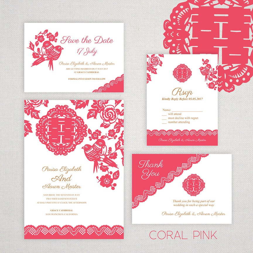 Diy printable editable chinese wedding invitation save the zoom stopboris Images