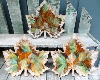 Anna Van Briggle Leaf Plates