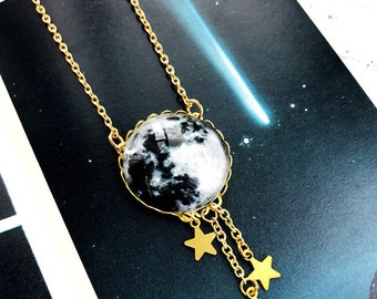 Night Fall Moon Necklace