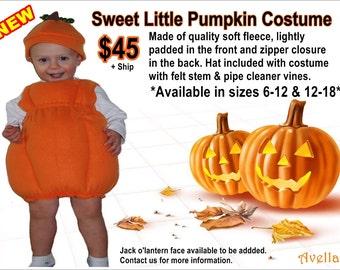 Halloween Sweet Litte Pumpkin Costume