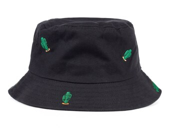 Embroidered Bucked Hat - Cactus Bucket Hat by Heavenly Hats