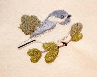 Chickadee Tea Towel | Embroidered Kitchen Towel | Embroidered Tea Towel | Kitchen Towel | Bird Lover Gift | Chickadee Gifts | Hand Towel