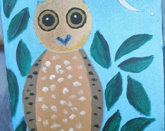 Small paiting the owl