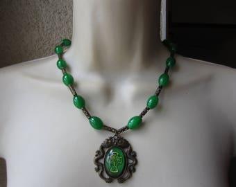 Celtic cross pendant necklace