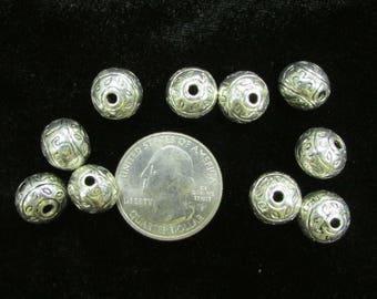 Guru Beads pack of 10 Silverplate