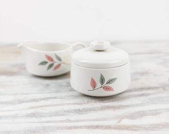 Vintage Sugar Bowl and Creamer Set, Franciscan China Replacements, Springsong pattern