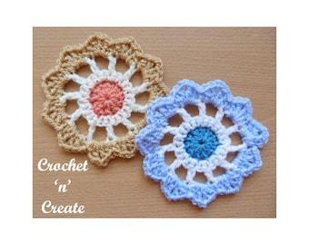 Crochet Flower Wheel Crochet Pattern (DOWNLOAD) CNC123