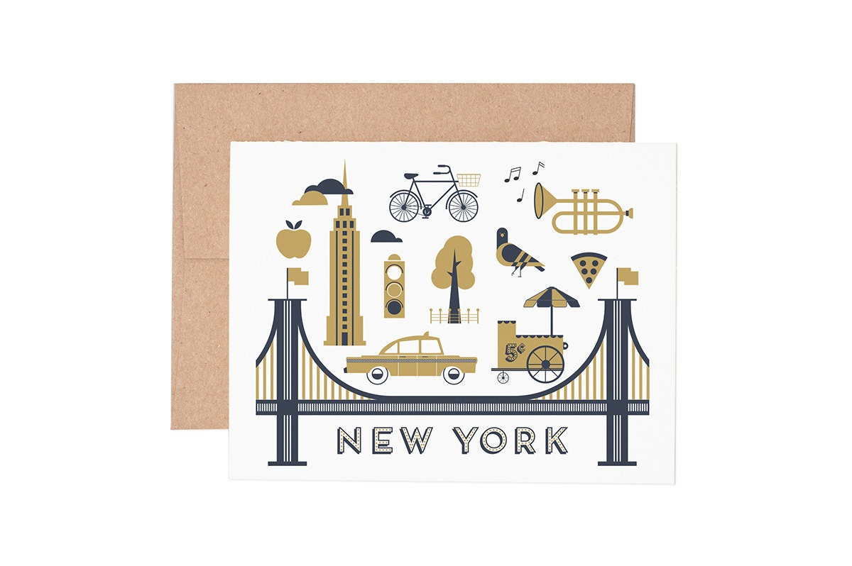 Boxed Cards New York City Letterpress Greeting Cards Boxed Set Blank Cards All Occassion