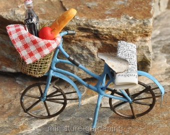 Summertime Picnic with Bicycle for Miniature Garden, Fairy Garden