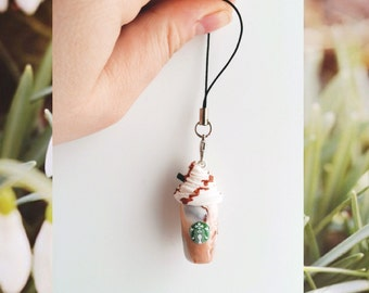 Custom Starbucks mug, custom name mug, coffee mug, personalized mug, mobile charm, coffee jewelry || summer edition mobile phone charm