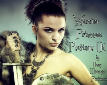 WARRIOR PRINCESS Perfume Oil - Jasmine, Lily of the Valley, Musk, Bamboo, Cedar - fantasy perfume