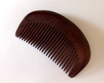 Organic African Ebony Wood Beard Comb Beard Basics Antistatic Sturdy Rare Exotic Hard Wood Durable Comb