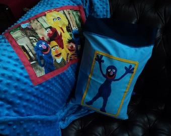Sesame Street Blanket Toddler Blanket Bert and Ernie Grover Elmo Blanket Sesame Street Pillowcase Sesame Street Birthday