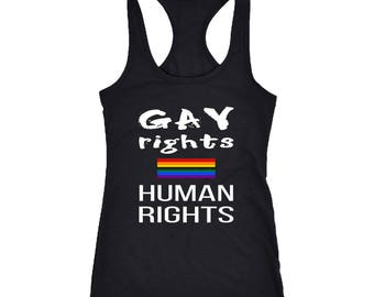 Gay Rights Racerback Tank Top T-Shirt. Funny Gay Rights Tank.