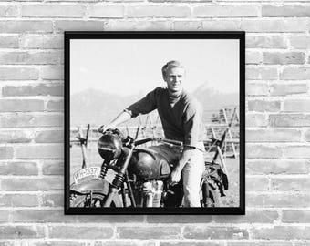 STEVE MCQUEEN The Great Escape - Garage workshop Limited Edition - Vintage poster