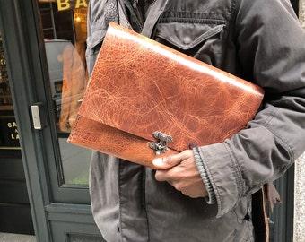 Handmade tablet sleeve, Tablet carrying case, Leather iPad case, Leather tablet cases, iPad air cover, iPad sleeve, Custom made by hand