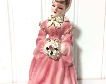 Vintage Victorian Lady Porcelain