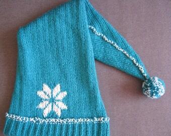 Turquoise Pixie Hat