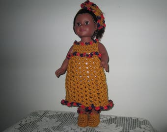 American Girl Doll Outfit Crocheted by SuzannesStitches, Handmade American Doll Clothes, Doll Crochet Outfit, American Doll Dress Outfit
